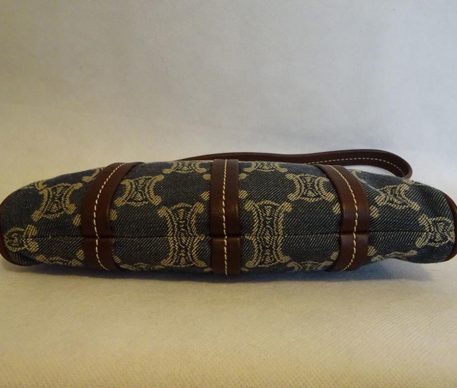 celine monogram leather shoulder bag