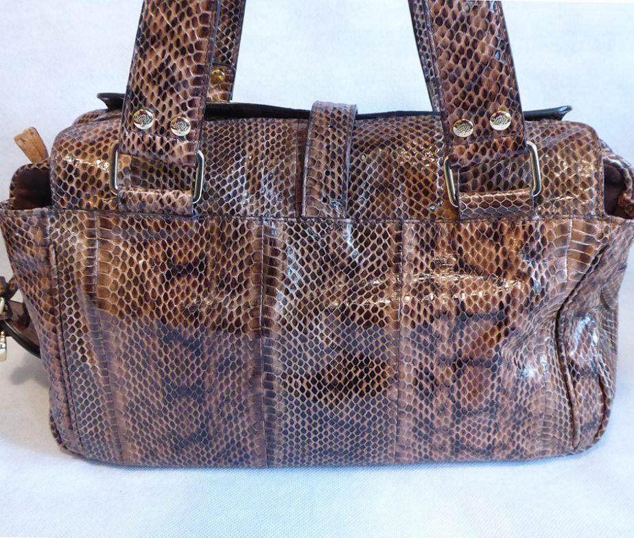 fd2ea4a29c ... france mulberry brown snakeskin leather regular medium mabel bag 5d130  36e1b