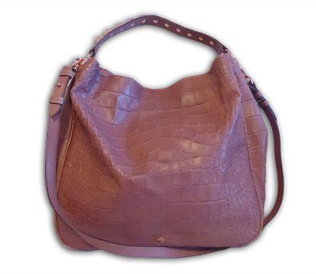 60d188fdc87b Mulberry dark blush pink soft croc print leather large eliza hobo ...