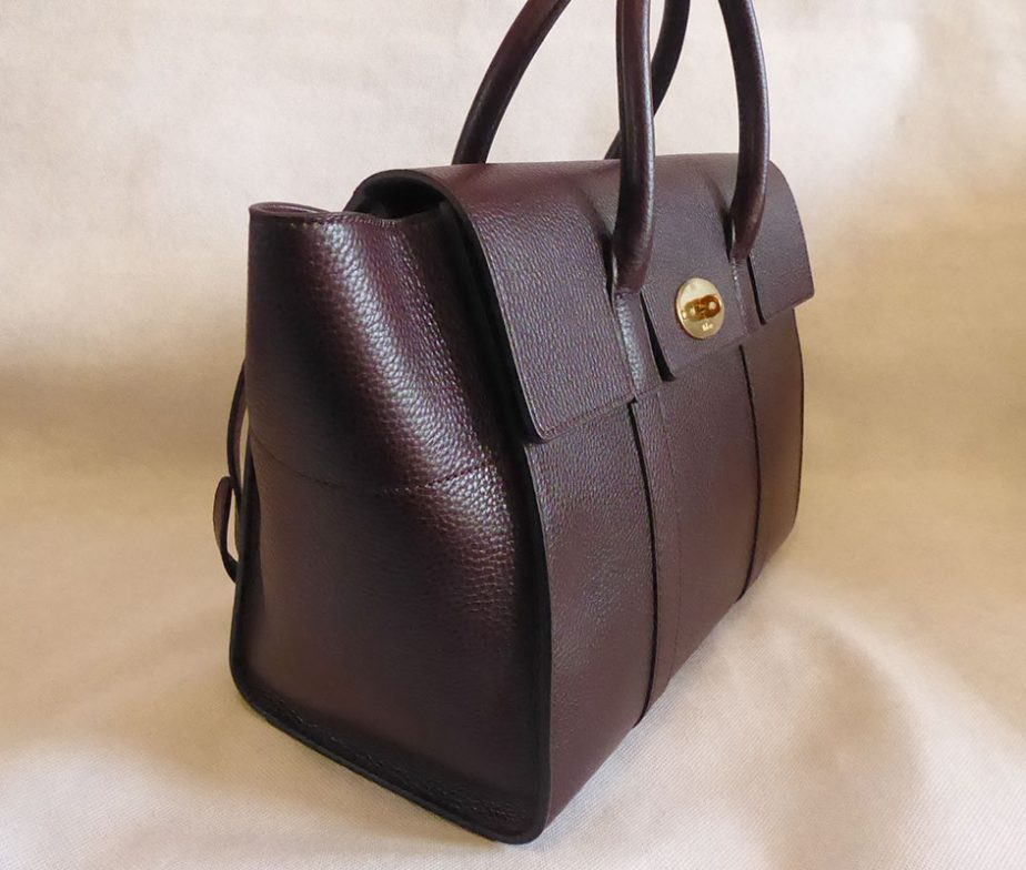 51790a589cb9 Mulberry oxblood grain veg tanned leather bayswater with strap shoulder bag  ...