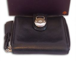 a2f8cab445 ... order genuine mulberry emmy bag mulberry black pebbled leather somerset  zip around purse wallet box 1086a