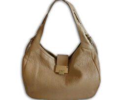 0f8ef8356c Jimmy Choo nude light tan pebbled leather relax hobo shoulder bag