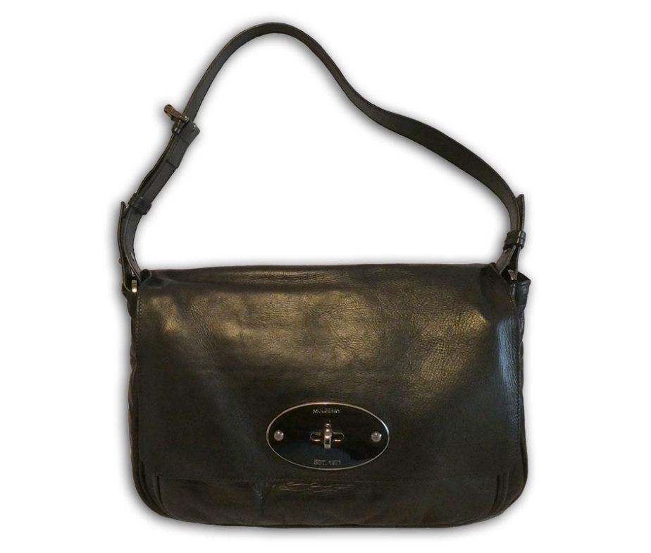 1f2cd3312ac Mulberry black lightweight antiqued leather bayswater clutch shoulder bag