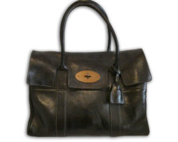 3b20c15119e7 Mulberry black antique glace leather heritage classic bayswater bag