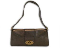 022fd134e1 Mulberry metallic gunmetal grey soft grain leather zinia shoulder bag    receipt