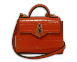 Mulberry hibiscus red shiny croc print leather micro seaton shoulder bag 499c0b7d88111