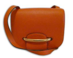 Mulberry bright orange classic grain leather selwood shoulder bag   receipt d04b48f7f8d3c