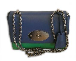 846b2383f150 Mulberry jungle green and sea blue lamb nappa leather regular lily shoulder  bag   receipt
