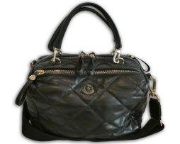 93b63f66faffd2 Moncler black quilted calfskin leather albane shoulder bag & receipt