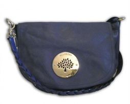 0cd83340ddf Mulberry cosmic blue soft spongy leather daria satchel shoulder bag