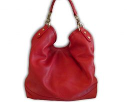 2fb97c4a1eefdc Mulberry bright red spongy pebbled leather effie hobo shoulder bag